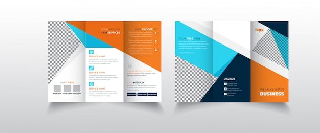 Zakelijk gevouwen brochure sjabloon