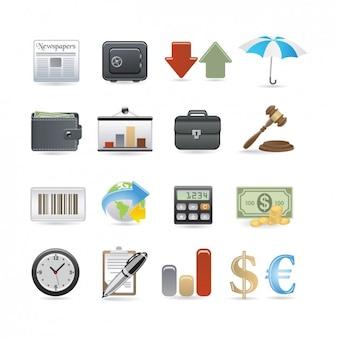Zakelijk icon set