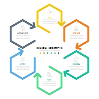Zakelijk infographic vectorontwerp, informatie