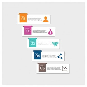 Zakelijk infographics 4 stappen infographic