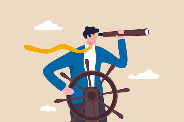 Zakelijk leiderschap en visionair om het succes van het bedrijf te leiden.
