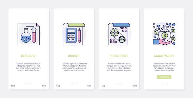 Zakelijk marktonderzoek om geld te verdienen illustratie
