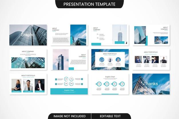 Zakelijk minimaal powerpoint-presentatiesjabloonontwerp
