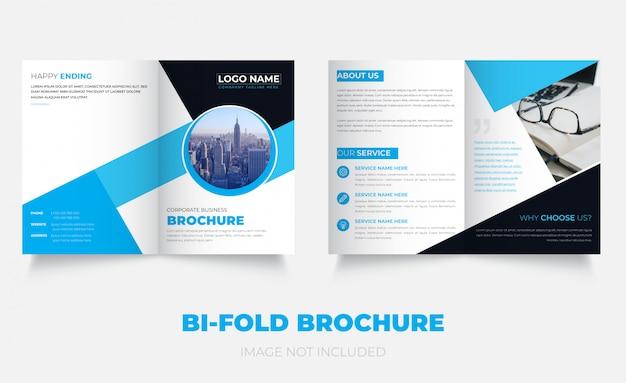 Zakelijk nieuw tweevoudig brochure-sjabloon