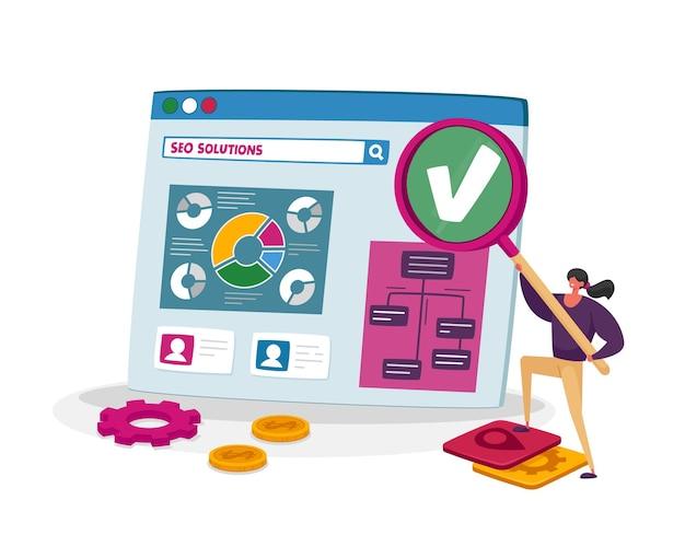 Zakelijk onderzoek en analyse, seo, zoekmachineoptimalisatieconcept