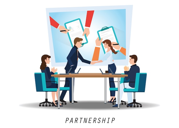 Zakelijk partnerschap handdruk
