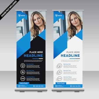 Zakelijk roll up banner template premium
