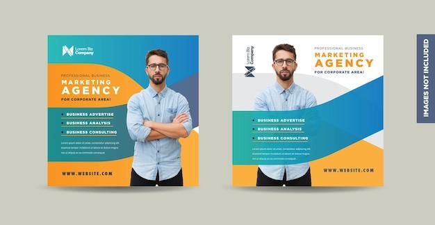 Zakelijk social media postontwerp of webbannerontwerp of promotioneel bannerontwerp