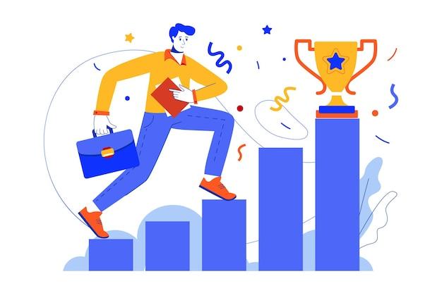 Zakelijk succes webconcept