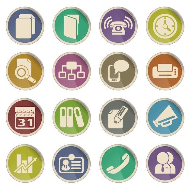 Zakelijk symbool voor webpictogrammen