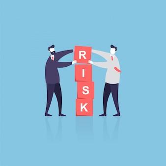 Zakelijk teamwerk met baas en klerk om een probleem op te lossen
