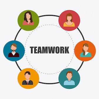 Zakelijk teamwerk ontwerp.