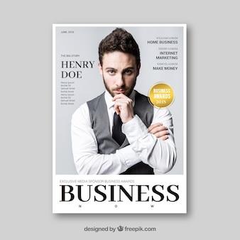 Zakelijk tijdschrift met afbeelding