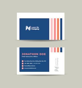 Zakelijk visitekaartje ontwerp of visitekaartje en persoonlijk visitekaartje