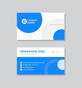 Zakelijk visitekaartje ontwerp of visitekaartje sjabloon