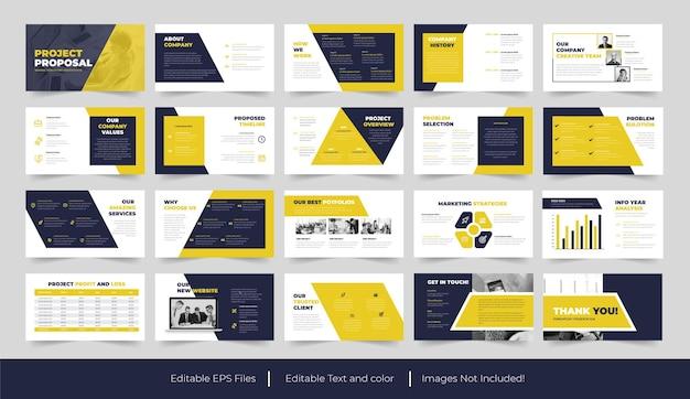 Zakelijk voorstel sjablonen powerpoint presentatie