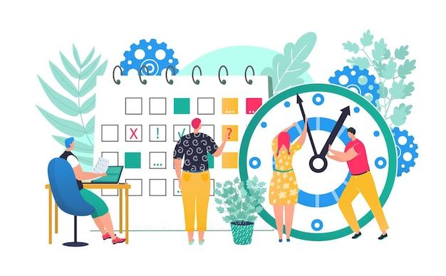 Zakelijk werk met tijdbeheer klok concept