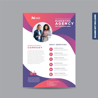 Zakelijk zakelijk flyerontwerp of hand-out en folderontwerp of marketingblad brochureontwerp