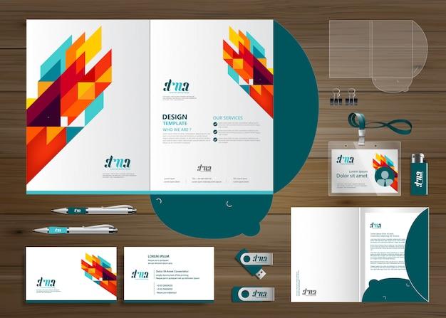 Zakelijk zakelijk map technologie briefpapier bedrijf, presentatie