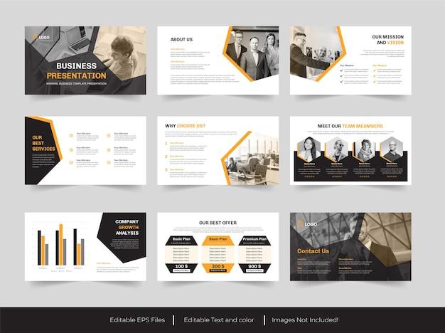 Zakelijk zakelijk powerpoint-ontwerp