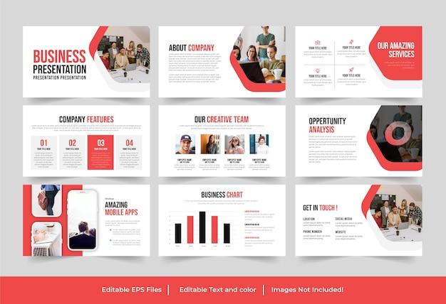 Zakelijk zakelijk powerpoint-presentatie ontwerp