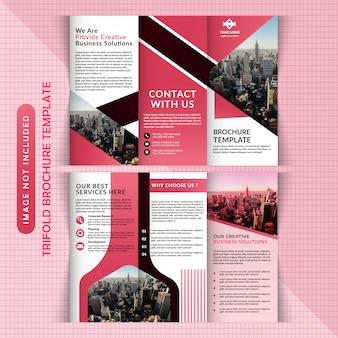 Zakelijk zakelijk tri-fold-sjabloon