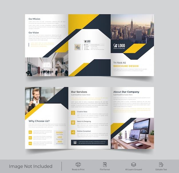 Zakelijke a4 drievoudige brochure