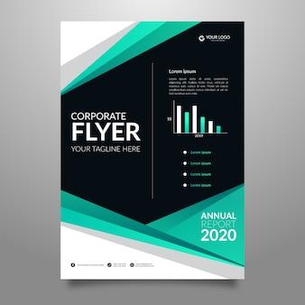 Zakelijke abstracte flyer