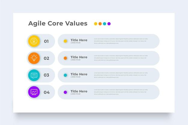 Zakelijke agile infographic sjabloon