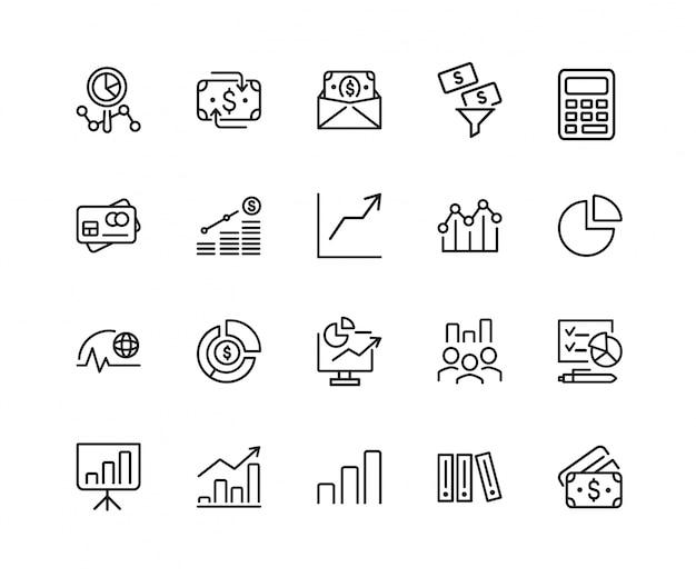 Zakelijke analyse pictogramserie