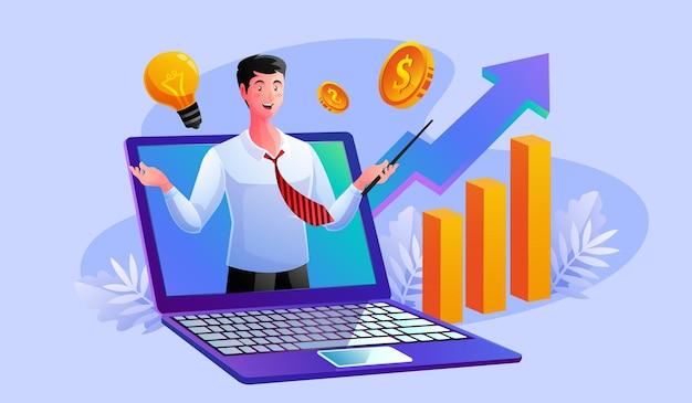 Zakelijke analyse van digitale marketing