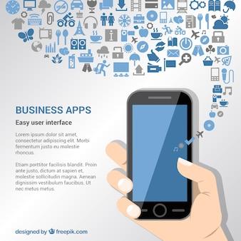 Zakelijke apps achtergrond