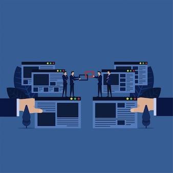 Zakelijke backlink voor het bouwen van websites voor zoekmachine optimalisatie.