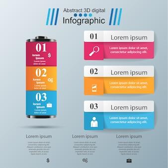 Zakelijke batterij infographics