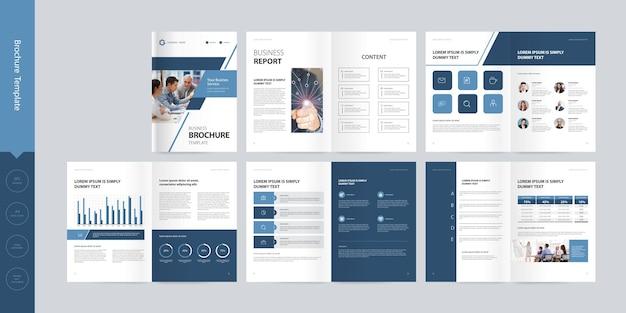 Zakelijke bedrijfsprofiel brochure ontwerp lay-outsjabloon