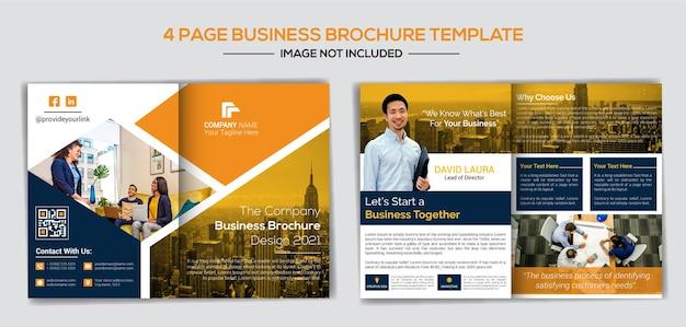 Zakelijke bedrijfsprofiel ontwerpsjabloon