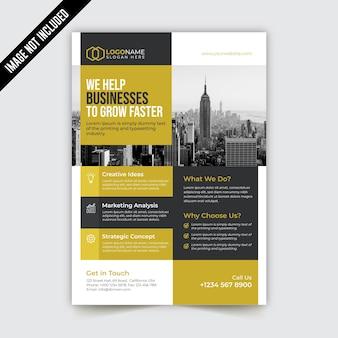 Zakelijke bi-fold brochure sjabloonontwerp