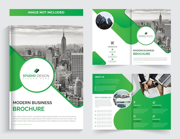 Zakelijke bi-voudige brochure