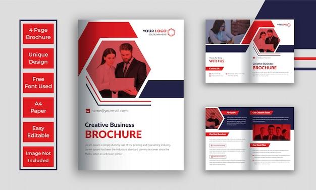 Zakelijke bi vouw brochure sjabloon