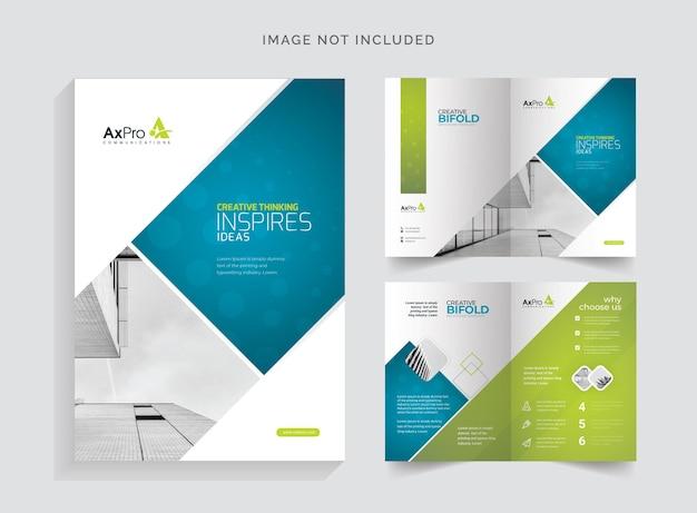 Zakelijke bifold-brochure
