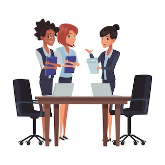 Zakelijke bijeenkomst cartoon