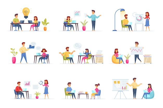 Zakelijke bijeenkomst collectie personen personages