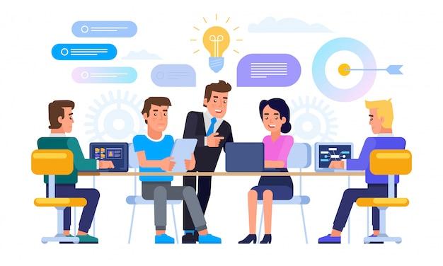 Zakelijke bijeenkomst concept. brainstormen.
