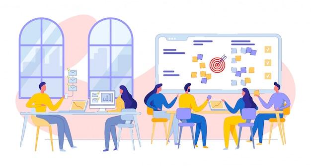 Zakelijke bijeenkomst, discussie in het kantoor van het bedrijf