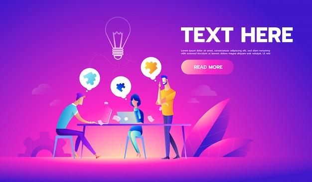 Zakelijke bijeenkomst en brainstormen