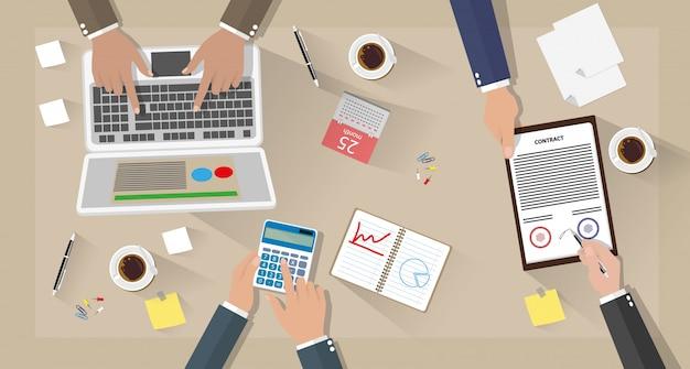 Zakelijke bijeenkomst en teamwerk