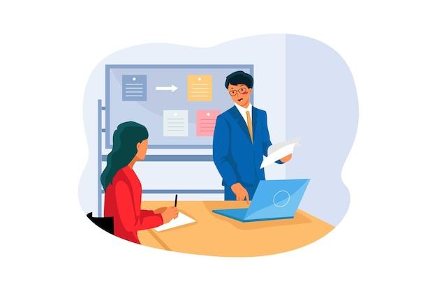 Zakelijke bijeenkomst illustratie