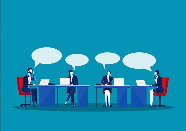 Zakelijke bijeenkomst in het bedrijf