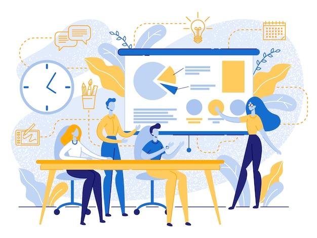 Zakelijke bijeenkomst in office, creative studio work