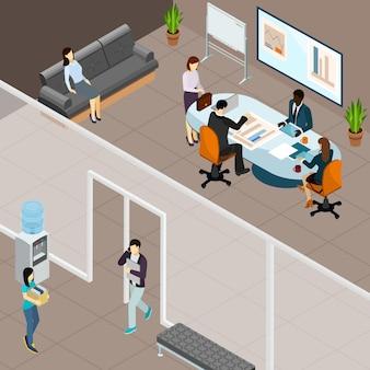 Zakelijke bijeenkomst in office